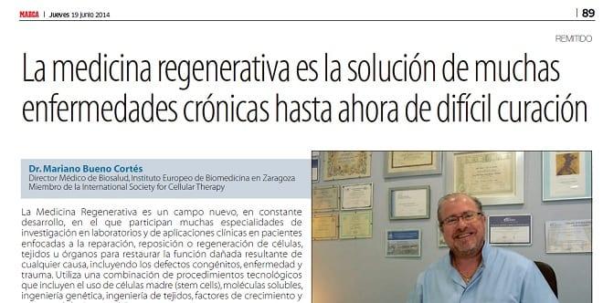 Biosalud en Marca por su aplicación de la medicina regenerativa en el deporte