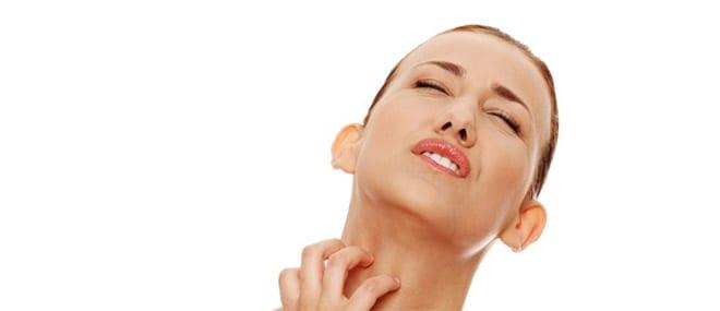 Reacción alérgica picor